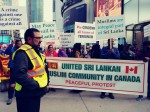 Sri Lankan Muslims Protest Rally at Toronto